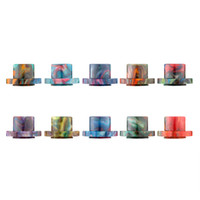 Wholesale Electronic Cigarettes Drip Tips - Epoxy Resin Drip Tips For Cleito 120 Atomizer Tank Best Cleito 120 Mouthpiece Colorful High quality Electronic Cigarette Free Ship