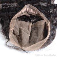 fechamento da onda do corpo do pacote venda por atacado-Onda do corpo do cabelo brasileiro onda 360 lace frontal com pacotes com feixes de lixívia nó 360 Lace fechamento Frontal