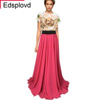 Wholesale Long White Straight Skirt - Edsplovd High Quality Bohemia Spaghetti Strap Solid Long Dress, Floor Skirt With Single Shoulder Pleated Dress Grace Long Lining DHW4