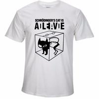 Wholesale Tshirt Big Bang Theory - Cotton T shirts Top quality Schrodinger's Cat print short sleeve men T shirt casual The Big Bang Theory mens Tshirt 2017