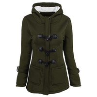 Wholesale green hooded womens parka resale online - Winter Parkas For Women Coats Thickening Jackets Long Sleeve Womens Outwear Parkas Tops Plus Size Clothing