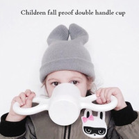 Wholesale Milk Candy - Children's cups, big ear cups, milk   cereal drinking tools,candy color,lovely color,baby anti-scalding,environmental protection materials.