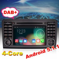 Wholesale Mercedes Ml Dvd - HD Android 5.1 Car Radio for Mercedes Benz ML GL Class W164 X164 ML300 DVD Stereo GPS Wifi Mirror Link DTV-IN