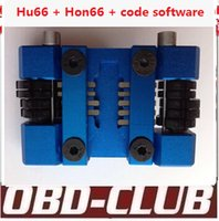 Wholesale Machine Code Keys - 2017 Newest Hu66 + Hon66 locksmith car key maker car key tool machine + code software to do the whole lost key by hand Free ship