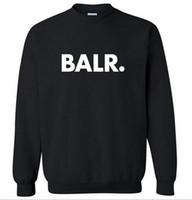 soğutma pop toptan satış-2016 Polar BALR Rahat Unisex Hoodies Kazak Serin Kalça Pop Kazak Erkek Sportwear Ceket Jogger Eşofman Moda