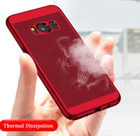 Wholesale Hot Hard Case - hot ultra thin hard pc grid case mesh breathable back cover hollow porous mobile protector for iphone 6 7 8plus iphone x samsung s7 s8 plus