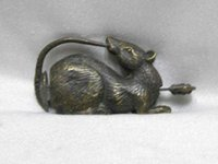 Wholesale Old Brass Keys - China old bronze lucky mouse can use the lock and key