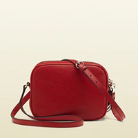 Wholesale Real Leather Men Handbags - red black many colors G Soho real genuien Leather Disco Bag soft cowhide 308364 Tassel BAG cross body Satchel women handbag small purse
