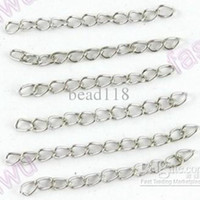 "Wholesale Extend Chain - Hot ! 1000 Pcs 1.7"" Tibetan Silver Useful Metal Extend Chains Tail DIY Jewelry"