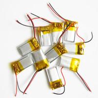 registro de auriculares al por mayor-venta al por mayor 3.7 v 60 mAh batería recargable de LiPo de polímero de litio 381220 li ion cell power para Mp3 bluetooth grabador de auriculares auriculares de registro