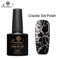 Wholesale Crackle Polish - Wholesale-Saviland 1pcs Crack Nail Gel Polish UV LED 12 Colorful Crackle UV Lacquer Cracking Shatter Nails Lacquer Nail Art Gel