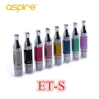 Wholesale Top Coil Clearomizer - IN stock! Aspire ET-S BDC BVC Atomizer tank top Quality 3ML ETS clearomizer with bvc bdc coils glass tube