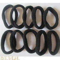 10 pcs Black Girls haute élastique cheveux liens tête bande corde <b>ponytail bracelets</b> scrunchie hairbands bandeau Accessoires d'ornement