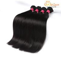 bakire saç güzellik toptan satış-Kraliçe Ürünleri Malezya Düz Saç Örgü Demetleri Ipeksi Bakire Düz Saç Boyanabilir Doğal Renk Sıcak Güzellik Saç Uzantıları