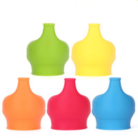 Elephant shape Anti-overflow silicone sippy cup lid baby sippy cups no leak for baby pacifier bowl cover DHL Free