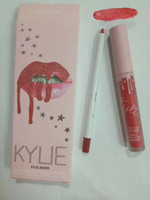 Wholesale Birthday Pencils - IN STOCK Kylie Birthday Edition I WANT IT ALL Lip Kit Matte Liquid Lipstick Lip Liner Pencil Lip Gloss Set 12 colors Twenty Augest Bug