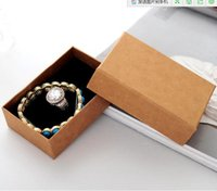 Wholesale Jewellery Paper Packaging - Necklace Jewelry Box  Lovers Ring Case  Gift Package  Kraft paper Box Jewellery Storage box 8.5*6.5*3cm