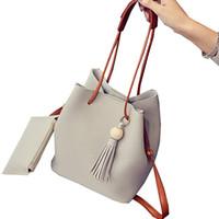 Wholesale Ladies Bun - 2017 New Bucket Women Bag Female Bun Mother Bag Fall Fashion Shoulder Bag Handbag New Tassel Women Messenger Bags