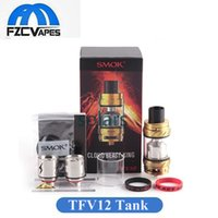 Autentico SMOK TFV12 carro armato re in vendita 6.0ml Top riempimento Sub Ohm Vape Atomizzatore 27mm Diametro 2017 Più recente E Cig