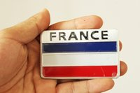 Wholesale Renault France - Car Styling Aluminum France National Flag Car Sticker Decal For PEUGEOT CITROEN RENAULT PGO