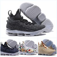 Wholesale Ghost Plush - Mens Basketball Shoes 2018 frx LBJ15 Ghost Grye Sports Shoes Men's Running Trainer Shoe Good Quality James 15 Sneakers