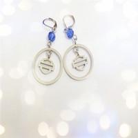Wholesale Stainless Steel Men Earrings Blue - 2pairs lot new arrival blue crystal biker style earrings 316L stainless steel fashion jewelry hot selling men motorbiker earrings