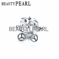 Wholesale Bulk of Pieces Halloween Gift Pumpkin Carriage Pendant Sterling Silver Jewellery Pearl Cages Locket
