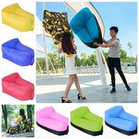 Wholesale Backpacking Pillow - Inflatable Neck Pillow Lounger Air Sofa Chair Comfortable Outdoor Beach Camping Hiking Lazy Sofa Bed 19 Colors LJJO1771