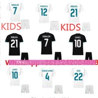 Wholesale Kids Shirts Sale - 17 18 Hot sale 2017 Top Best Qualit Short Realed Madrid kids kit goalkeeper Soccer jersey 17 18Home Away 3RD Shirt Free shipping