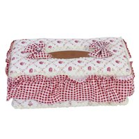 Atacado - Pastoral Style Rectangle Tissue Box Paper Holder --- Floral Pattern