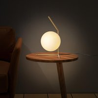 Wholesale North Table - New north Europe LED Glass Globe Ball Led Table Lamps Bedside Lamp Living Room Indoor Light Fixture LED Night Lights Modern Floor Lamp