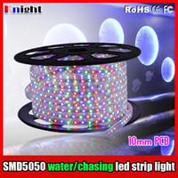 mini şerit kulüp toptan satış-220 V smd5050 KTV CLUB RGB esnek şerit ışık için led şerit ışık üç renk, yedi renkli, parajumping, takip, tam renkli, su akan lamba