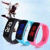 pulseira relógio digital venda por atacado-Alta Qualidade Unisex Silicone À Prova D 'Água LED Banda Inteligente relógio Digital Sports Relógio de Pulso Para Mulheres Dos Homens