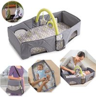 Wholesale Folding Baby Crib Portable - Portable Baby Travel Bed Crib Outdoor Folding Bed Travel Baby Diaper Bag Infant Safety Bag Cradles Bed Baby Crib Safety Mommy Bag KKA2477