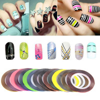 30pcs Rolls Striping Tapes Bunte Linie Nail Stickers DIY Nail Art Kit Manicaure Beauty Dekorationen für UV Gel Nagellack
