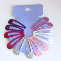 Wholesale Women S Hair Accessories Wholesale - Wholesale- 12pcs lot Gradient glitter women 's headwear Hair Snap Clips Christmas gifts bobby pin accessories hairgrips Barrettes hairpins