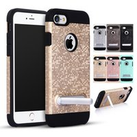 Wholesale New Urban Tough Armor TPU Silicone Kickstand Holder Case Cover For iPhone s Plus With Opp Package