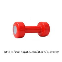 Wholesale Dumbbell Clock - Dumbbell Alarm Clock Shape Up 30 Times Every Morning Fitness and Body Building Table Clock Red