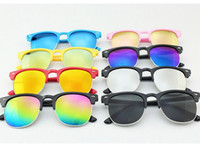 Wholesale Children s Uv Protective Sunglasses Baby Beach Eyewear Girls Baby Fashion Sunshades Eyewear Sunglasses design KKA1569