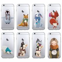 Caldo inverno coniglio Fox Bulldog Penguin Polar Bear Custodia morbida per iPhone 7 7Plus 6 6S 6Plus 5 5S SE 5C SAMSUNG