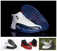 Wholesale Name Brand Shoes For Men - Retro 12s Basketball Shoes For Men Brand Name Sports Shoes Sneakers New Air Retro 12 XII Mens Trainers With Original Box