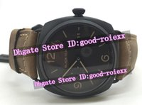 Wholesale Day Pvd - Top Luxury Mens Automatic Leather 1950 Watch Men's Date Black Seal Pvd 3 day Pam505 Dive Watches Men Sport Officine Pam 505 Wristwatches