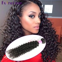 Nouvelle tendance! Fastyle Mink Peruvian Kinky Deep Curly Extensions 4pc / lot Unprocessed Brazilian Malaysian Indian Virgin Human Hair Bundles Dyeable