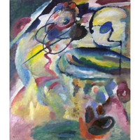 Wholesale canvas oil painting circles for sale - Group buy High quality Wassily Kandinsky arts Picture with a Circle Bild mit Kreis hand painted Oil paintings reproduction Large canvas