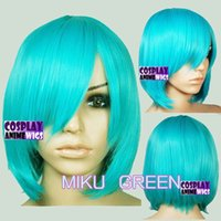 Wholesale Red Miku Wig - 40cm Miku Green Heat Styleable Long Bang Layer Base Cosplay Wig 65_MGG