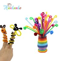 Wholesale plush art material - Set Children Educational DIY Craft Toys Materials Shilly Stick Plush Stick Handmade Art Christmas Toys