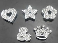 jóias da moda venda por atacado-50 pçs / lote 10mm strass completa mix estilos encantos de slides acessórios diy fit para 10mm pulseira pulseira bijuterias