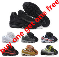 Wholesale Basketball Sneakers Authentic - Drop Shipping Wholesale Running Shoes Men Air Cushion 95 Sneakers Boots Authentic 2017 New Walking Discount Sports Shoes Size 40-46