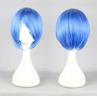 Wholesale Evangelion Wig - MCOSER Classical Animation Role Neon Genesis Evangelion Ayanami Rei Blue Short Straight Cosplay Wig