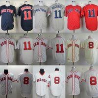 Wholesale Dry Red Clay - Personalize Men's Women's Kid's Boston Red Sox 8 Carl Yastrzemski 11 Clay Buchholz Beige White Blue Grey Flex Base Cool Base Baseball Jersey